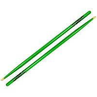 Zildjian 5ACWDGG  5A Acorn Wood Neon Green Drum Sticks - One Pair