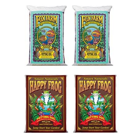 (FoxFarm Ocean Forest Garden Soil Mix (2) + Happy Frog Organic Pot Soil Mix (2))