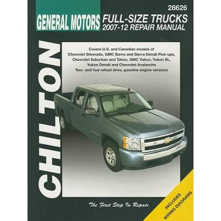 Chilton's General Motors Full-Size Trucks 2007-12 Repair Manual ()