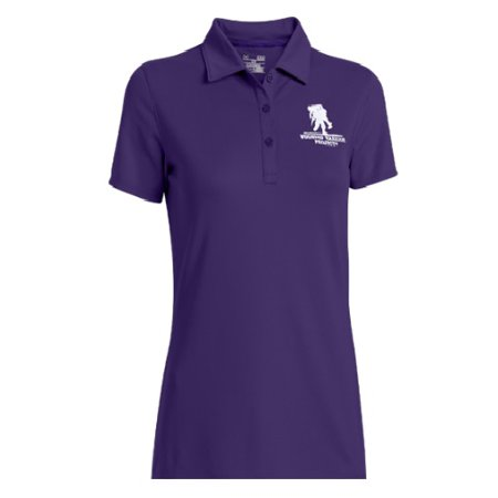 Under armour 1252029 women 39 s purple wwp short sleeve polo for Under armour shirts at walmart
