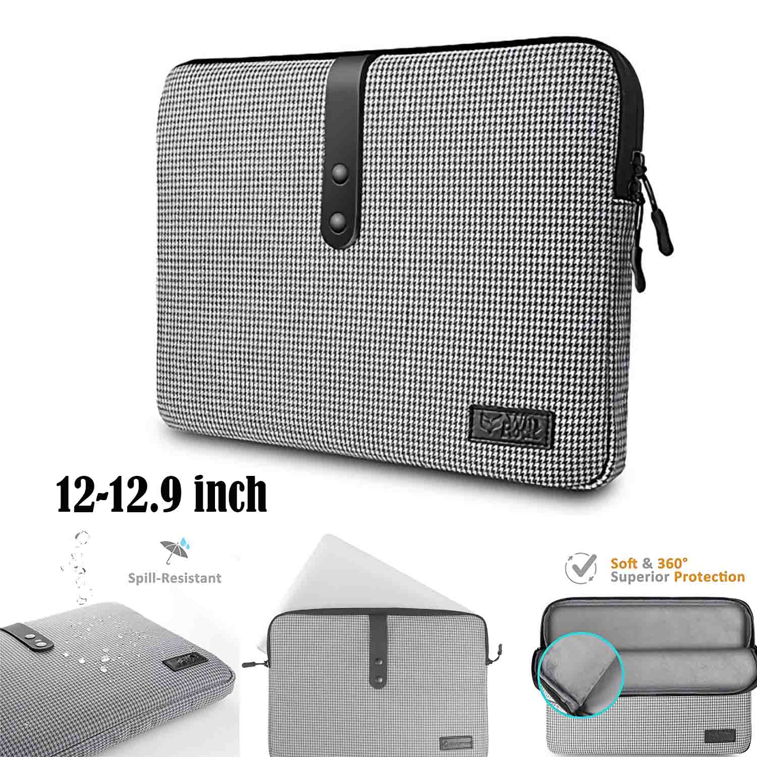360 Protective Laptop Sleeve Case Bag Cover for Microsoft New Surface Pro 5/4/3/2/1, 11.6 Inch Ultrabook Notebook Tablet, Spill-Resistant, Support up to 11.5 x 7.93 In