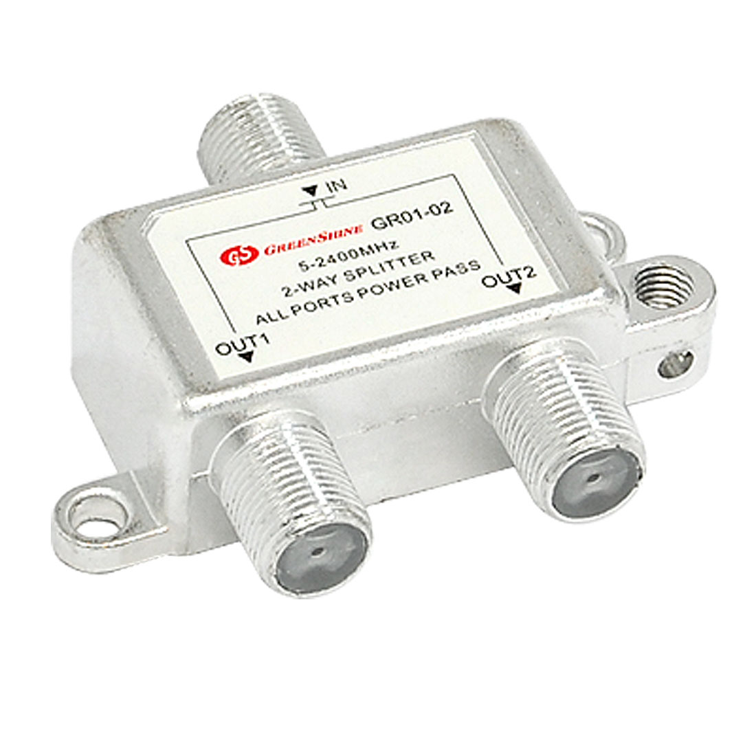 2 Way TV RF Coaxial Cable Splitter for CATV Signal