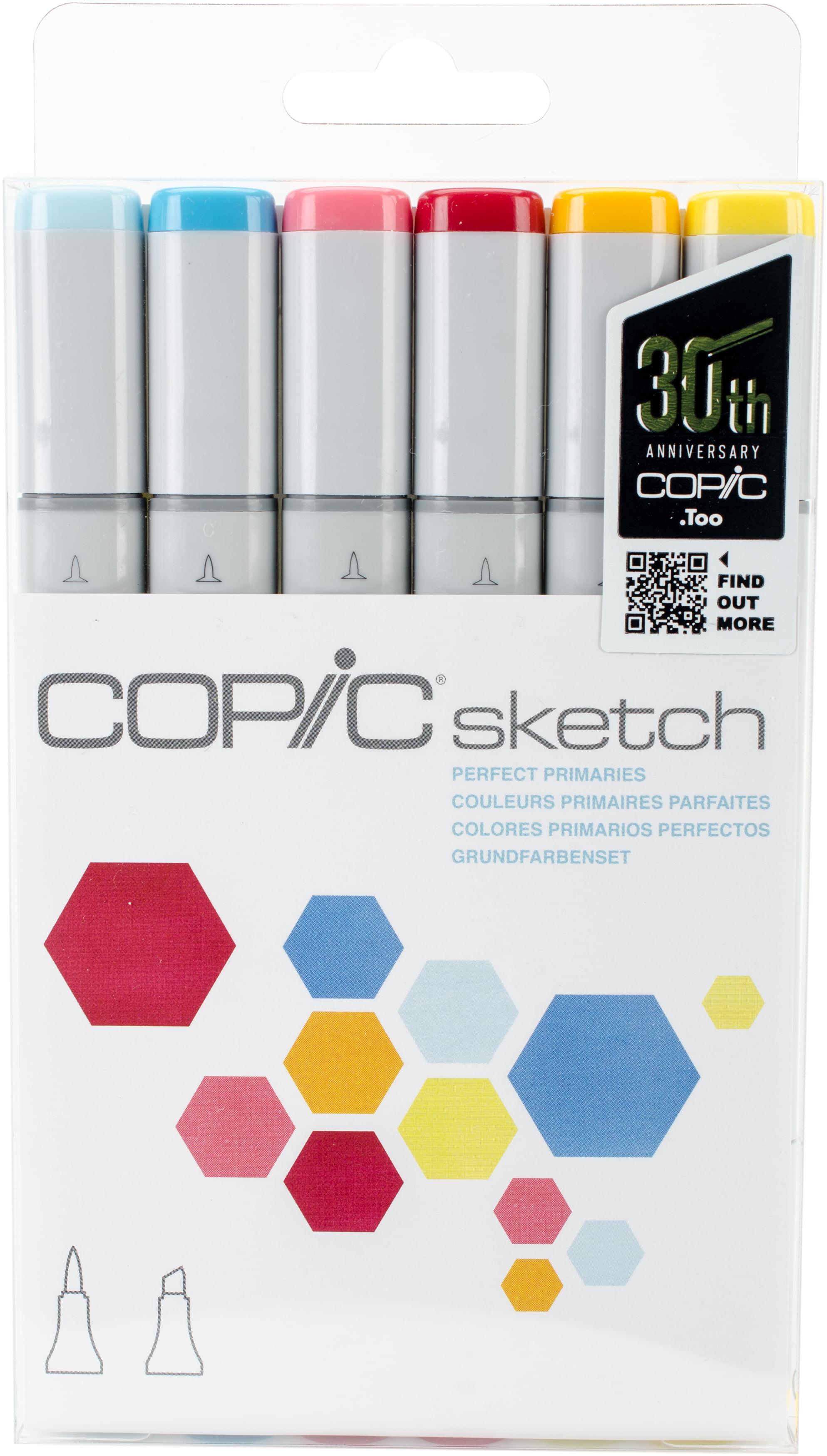 Copic Sketch Marker Set Perfect Primaries Walmartcom