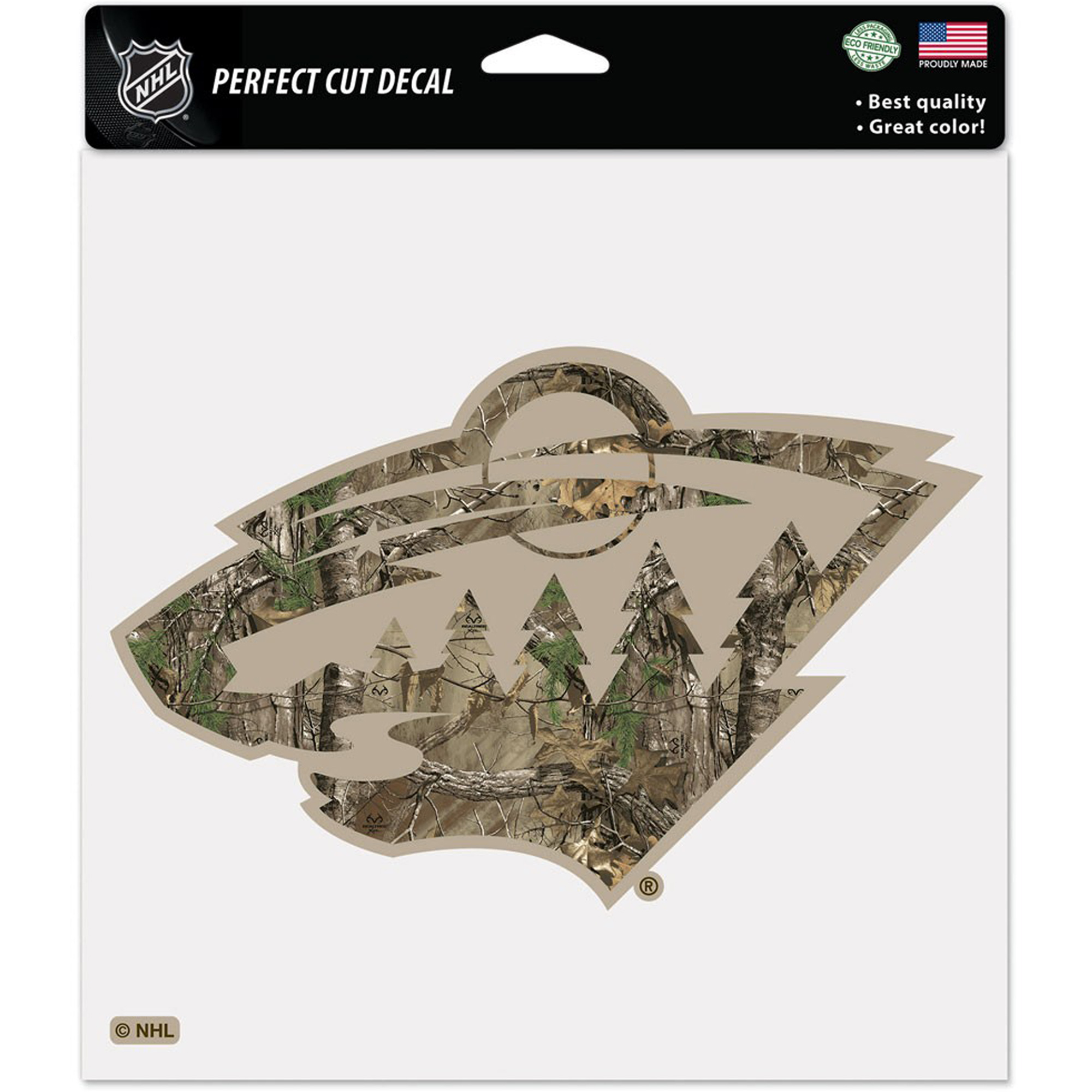 """Minnesota Wild WinCraft Realtree 8"""" x 8"""" Color Decal - No Size"""