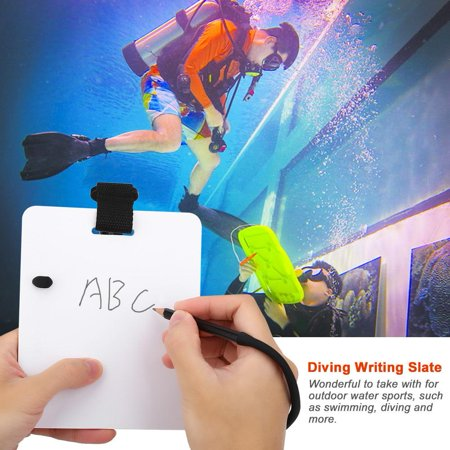 YLSHRF Diving Writing Slate,Underwater Writing Slate Board with Swivel Clip and Pencil for Water Sports Diving Swimming, Underwater Writing Slate Underwater Writing Dive Slates