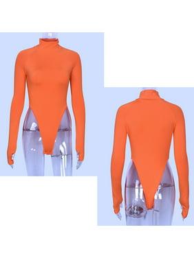 Women Sexy Jumpsuit Bodycon Bodysuit Leotard Top Romper Blouse Long Sleeve Shirt