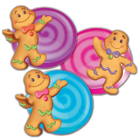 CANDY LAND ASSORTED PAPER CUT OUTS - Spider Cut Outs