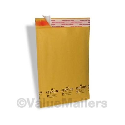 500 6x10 #0 (USA MADE) Ecolite Kraft Bubble Mailers Envelopes CD DVD Free Ship