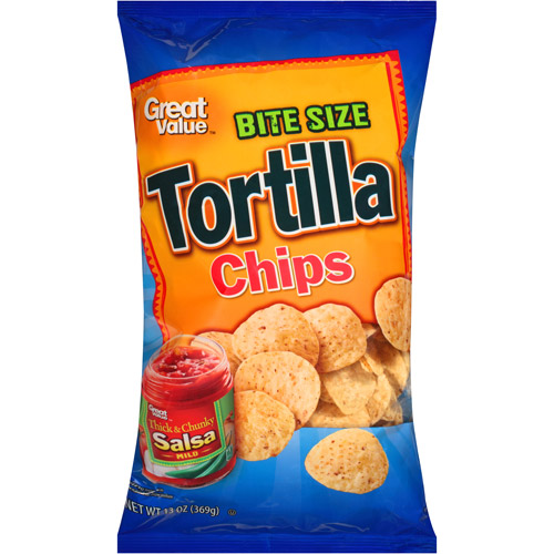 Great Value Bite Size Tortilla Chips, 13 oz