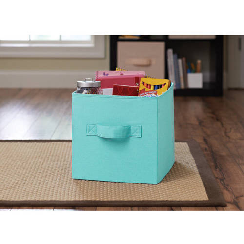 Better Homes and Gardens Collapsible Fabric Storage Cube, Turquoise