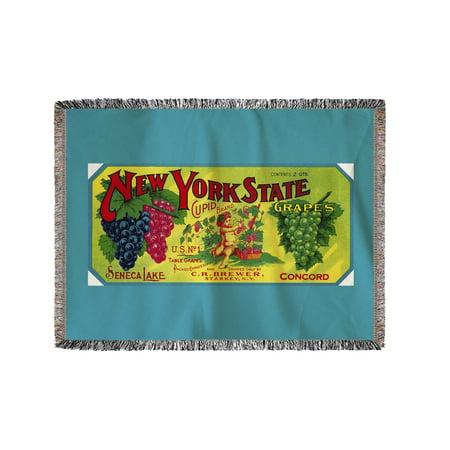 Cupid Grape Label  60X80 Woven Chenille Yarn Blanket