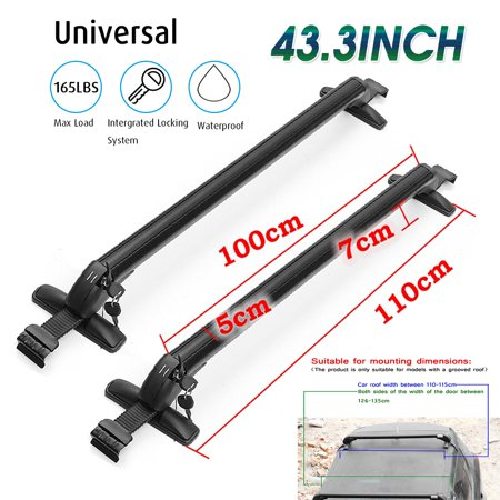 Car Top Roof Rack - Aluminum Car Top roof crossbar Luggage Roof Rack Cross Bar Carrier Adjustable Window Frame