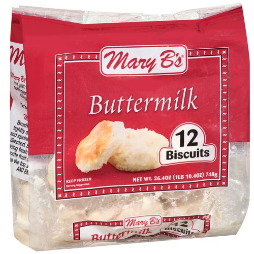 Mary B's Buttermilk Biscuits, 12 ct, 26.4 oz