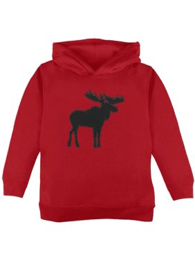 Moose Faux Stitched Toddler Hoodie