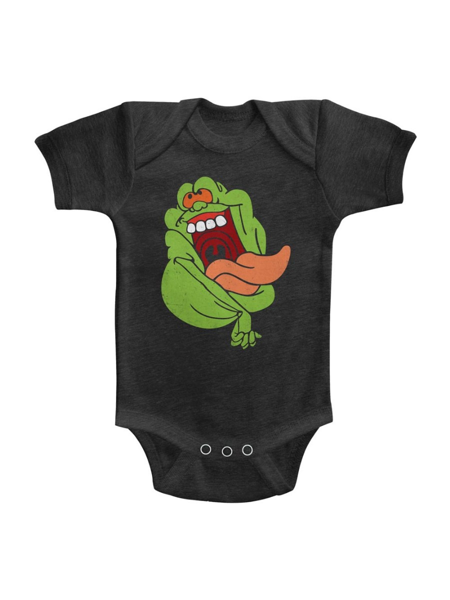The Real Ghostbusters Infant Bodysuit Logo Black Romper