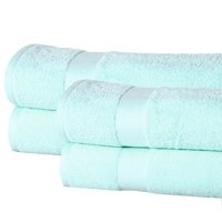 4 Set Elegance Spa Oversized Luxurious Cotton 550 GSM Bath Sheets (Multi Colors)