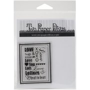 """Two Paper Divas Clear Stamps 6""""X4.5""""-Love Word Block"""