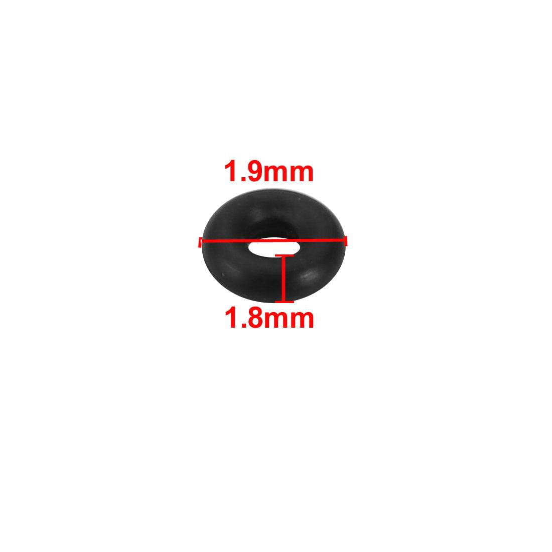 Unique Bargains 20pcs Black Nitrile Butadiene Rubber NBR O-Ring 1.9mm Inner Dia 1.8mm Width - image 1 of 2