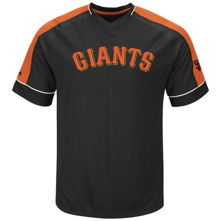 "San Francisco Giants Majestic MLB ""Lead Off Hitter"" V-Neck Mens Fashion Jersey by"