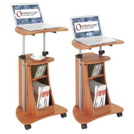 Ergonomic adjustable rolling laptop desk - Computer cart walmart ...