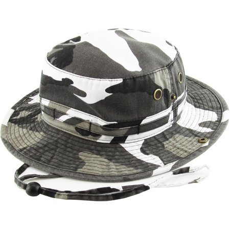 ebe11c76f6b Bucket Hat Boonie Hunting Fishing Outdoor Cap Washed Cotton NEW -  Walmart.com