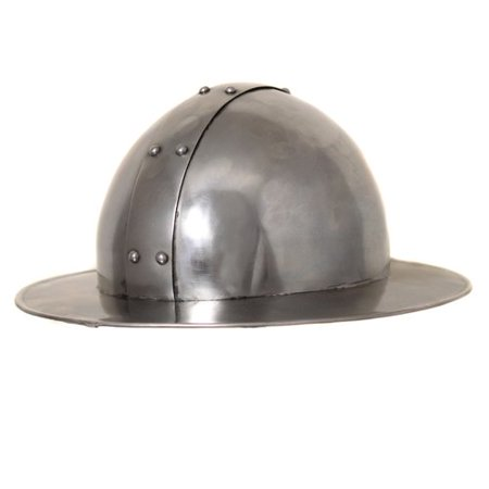 - EC World Imports Antique Replica Medieval Infantry Steel Kettle Hat Helmet