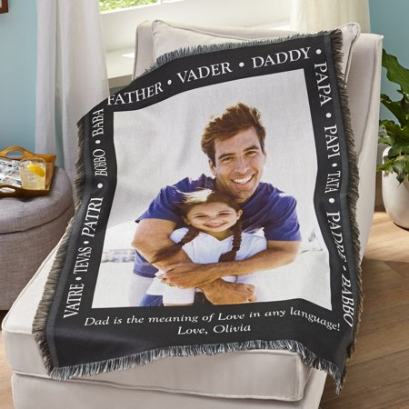 Personalized Words of a Father Photo Throw- (Personalized Daughter Throw)
