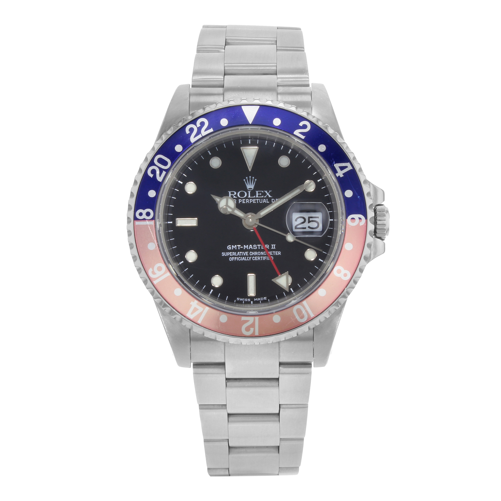 Rolex GMT-Master II 16710 Stainless Steel Automatic Men's...