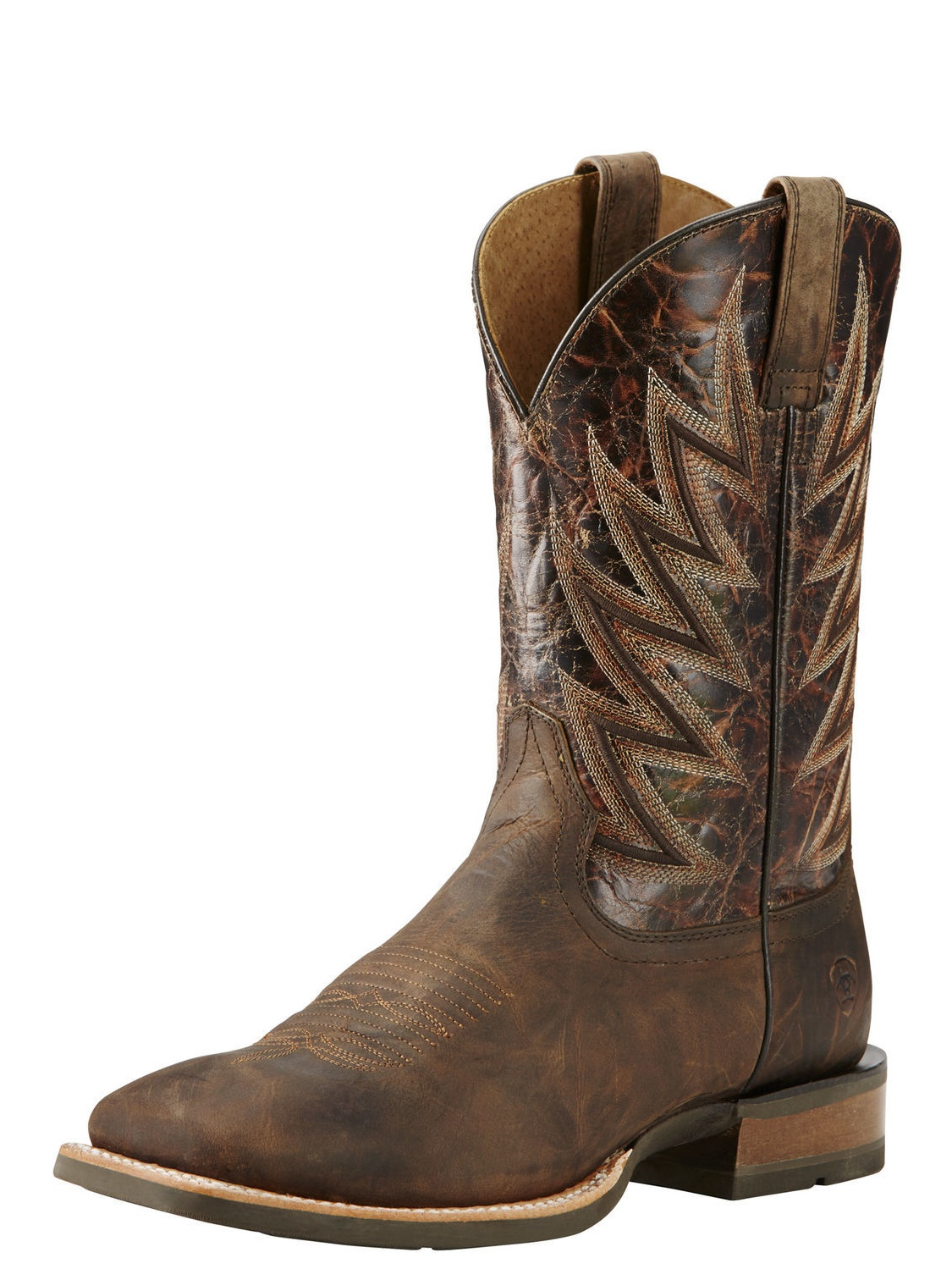 Ariat Challenger Men Square Toe Leather Brown Western Boot by Ariat
