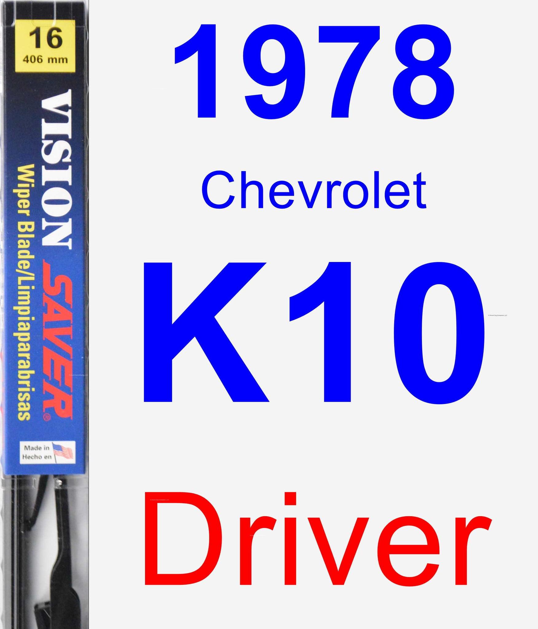 1978 chevrolet k10 driver wiper blade vision saver. Black Bedroom Furniture Sets. Home Design Ideas