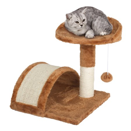 Cat Scratching Pole & Play Center - Kitty Perch & Tunnel - Pet (Kitty Cat Scratch Perch)