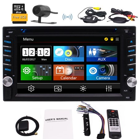 3 Types of WIN 8 UI 2 Din Car Stereo in Dash GPS Navigator Autoradio Bluetooth Capacitive Touchscreen Double Din FM/AM/RDS Radio Head Unit for Universal Vehicles 1080P Video Music with Wireless Back