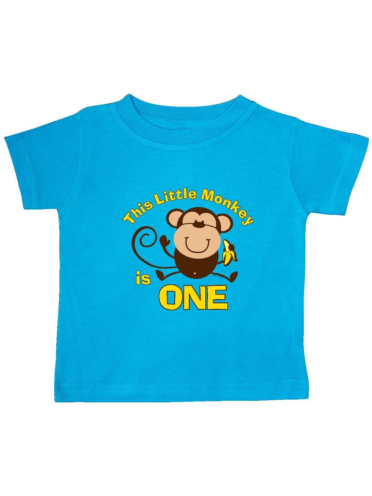 Little Monkey 1st Birthday Boy Baby T-Shirt