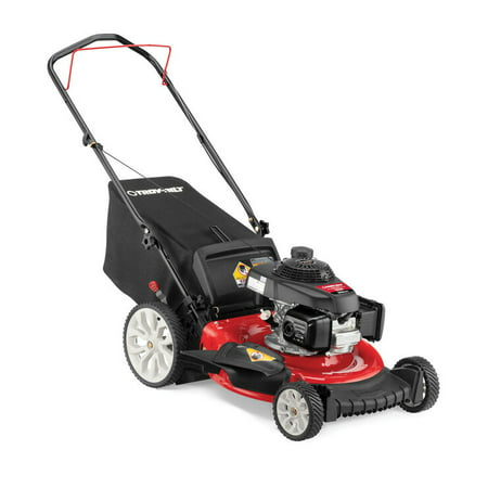 Troy-Bilt TB160 21 in. 160 cc Gas Walk Behind Push Mower with High Rear Wheels and 3-in-1 Cutting Triaction Cutting System (OPEN BOX)