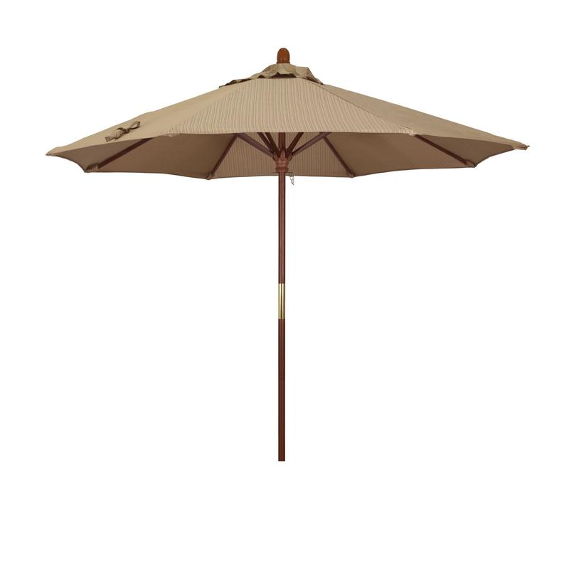 California Umbrella Grove Series Patio Market Umbrella in Olefin with Wood Pole Hardwood... by California Umbrella