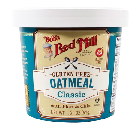 Bob's Red Mill Gluten Free Oatmeal Cup Classic with Flax & Chia -- 1.81 oz pack of 1