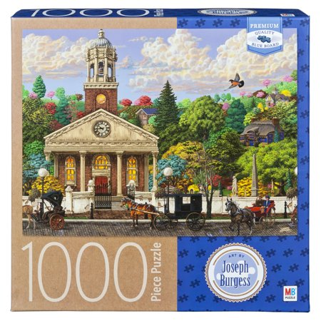 Artist Joseph Burgess - 1000-Piece Adult Jigsaw Puzzle - The Church - Halloween Puzzles Printables For Adults