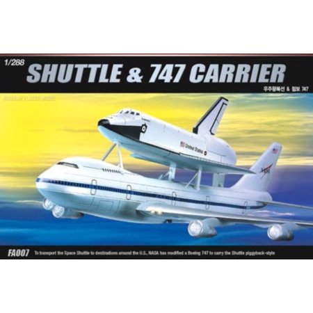 1/288 Space Shuttle & 747 Carrier Plastic Model Kit, new By Academy Models