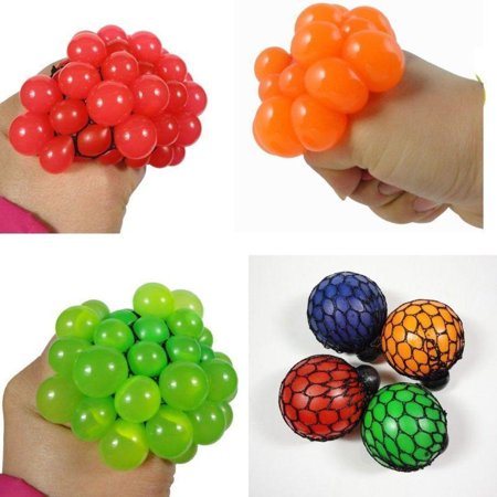 Anti Stress Face Soft Rubber Vent Grape Ball Autism Moody Relief Squeeze Kid Toy - Superhero Stress Ball