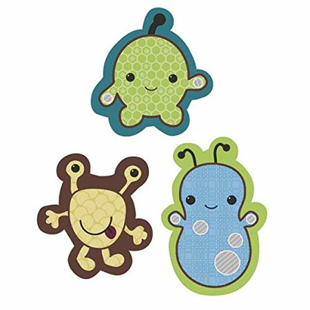 Cocalo Peek A-boo (Baby Peek-A-Boo Monsters Wooden Baby Boy Wall Decor Set Multi, Wood MDF By Cocalo Ship from US )