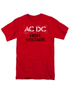 c07781707bbc90 Product Image AC DC Hard Rock Band Music High Voltage Album Cover Stencil  Adult T-Shirt