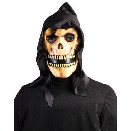 Hooded Death Grim Reaper Scary Skull Vinyl Halloween Horror Mask for $<!---->