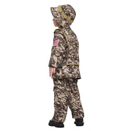 Desert Commando combat soldier army rambo adult halloween costume Size 3-4T](Adult Army Costume)