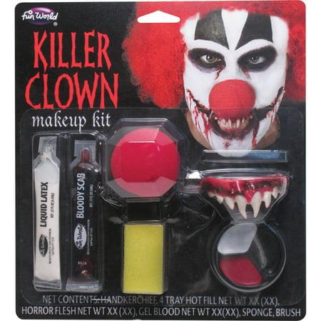 Killer Clown Makeup Kit Adult Halloween Accessory for $<!---->