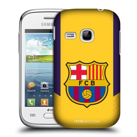 OFFICIAL FC BARCELONA 2017/18 CREST KIT HARD BACK CASE FOR SAMSUNG PHONES 5