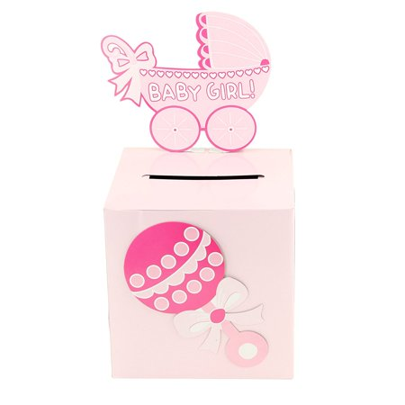 Baby Shower Wishing Well Card Box Cute Decoration Rattle Pretty