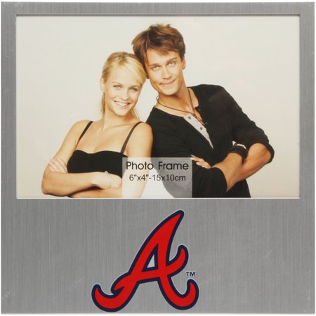 "Atlanta Braves 4"" x 6"" Aluminum Picture Frame - No Size"