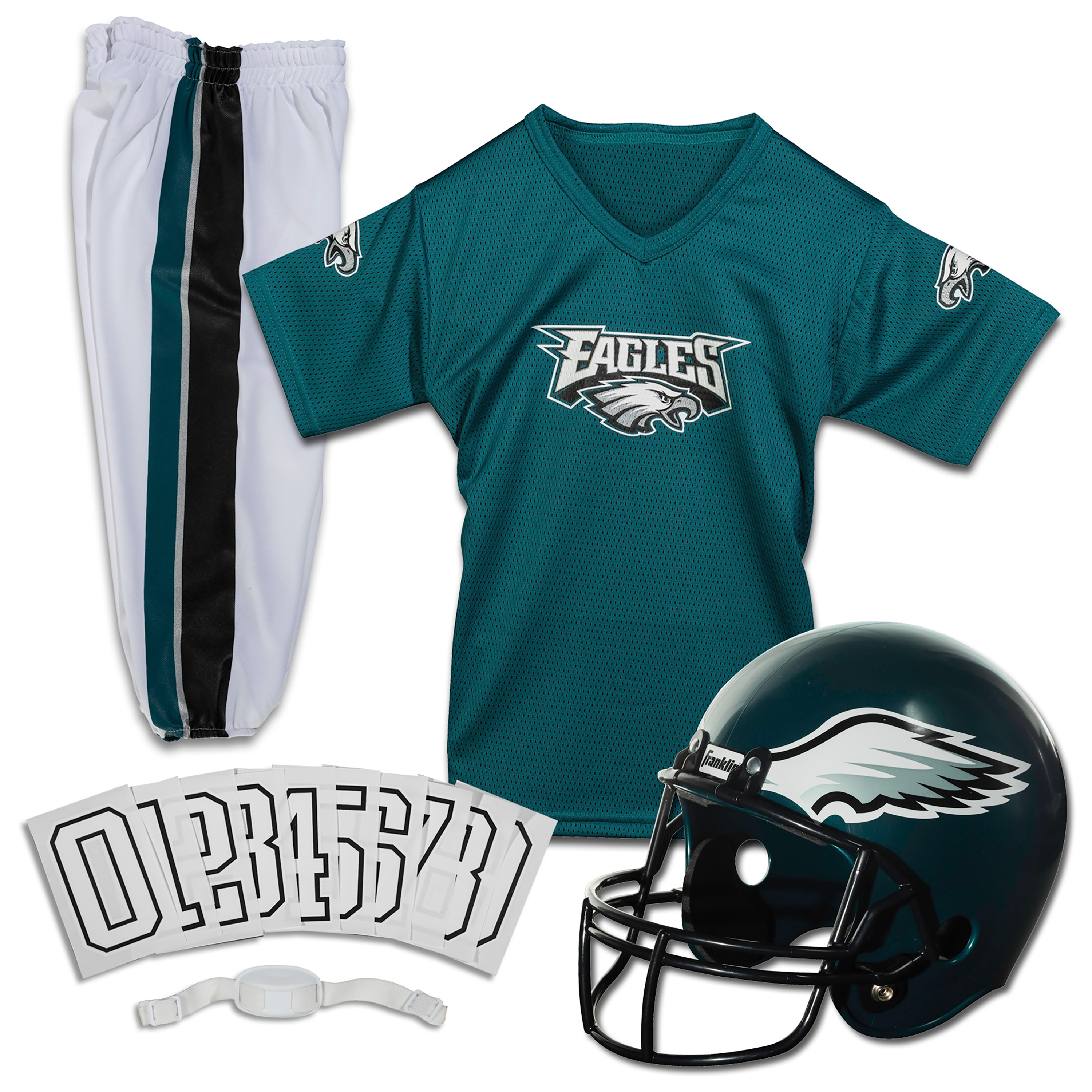 Franklin Sports NFL Philadelphia Eagles Youth Licensed Deluxe Uniform Set, Large