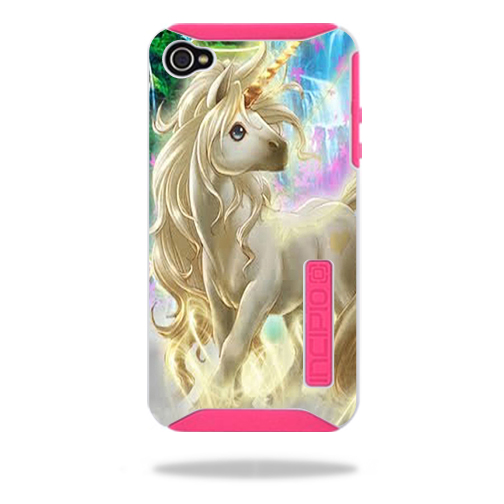 Mightyskins Protective Vinyl Skin Decal Cover for Incipio Silicrylic iPhone 4/4S Case wrap sticker skins Unicorn