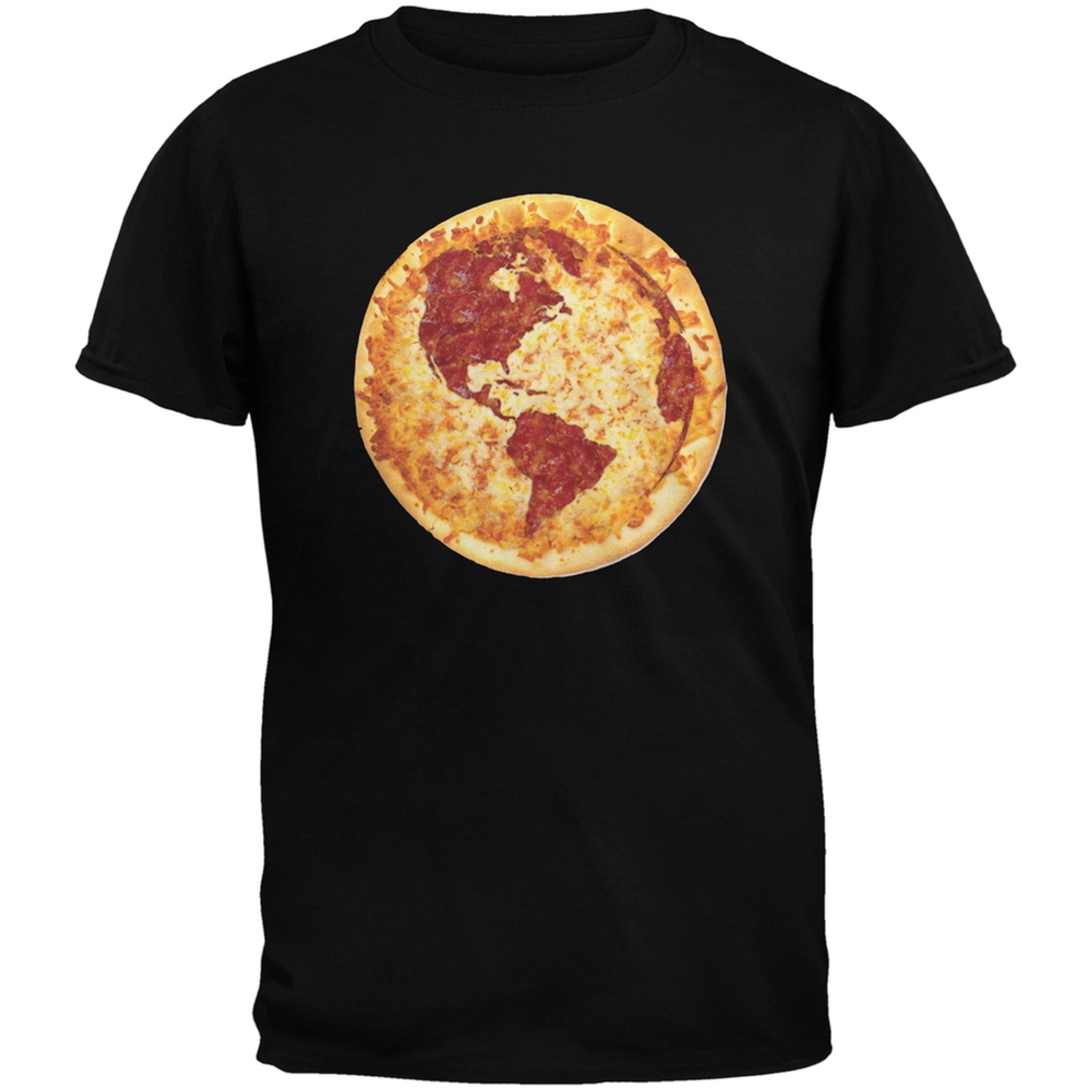Pizza Earth Black Youth T-Shirt
